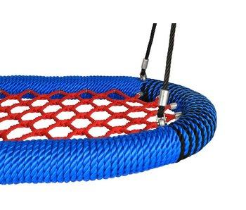 Nestschommel Oval Pro rood/blauw openbaar gebruik