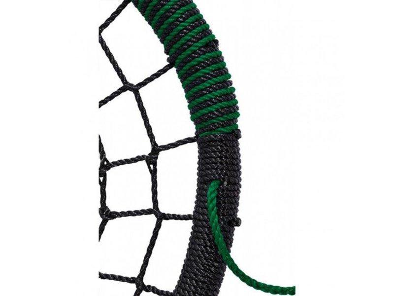 Nestschommel 'Oval' - PP - zwart/groen