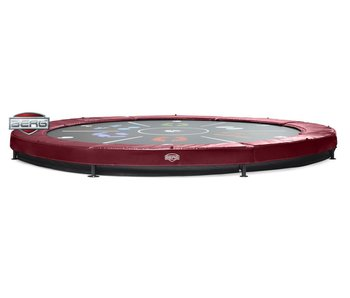 BERG Elite Inground Trampoline Rood Ø430 Tattoo