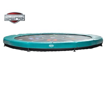 BERG Elite Inground Trampoline Groen Ø430 Tattoo
