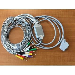 Fukuda Denshi Patiëntenkabel 10-Lead ECG, 4 mm banana plug [IEC]