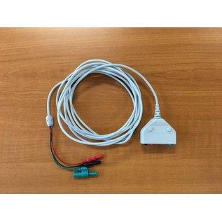 Bionen EMG Patiëntenkabel - 3x jack 1.5mm plug, 1x female 5-pin DIN - kabel 150 - 3x 1.5mm female TP
