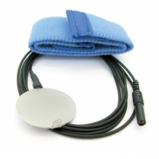 Bionen Reusable Ground metal disc electrode - velcro band L=50cm, kabel L=150cm, 1.5mm female TP