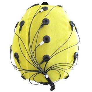 Bionen Headcap - 10 pre-wired Ag/AgCI Flat external - Maat 1 - 30cm c.c. - Neonatal - Bruin