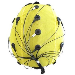Bionen Headcap - 21 pre-wired Ag/AgCI Flat external - Maat 7 - 60cm c.c. - Adult XL - Blauw