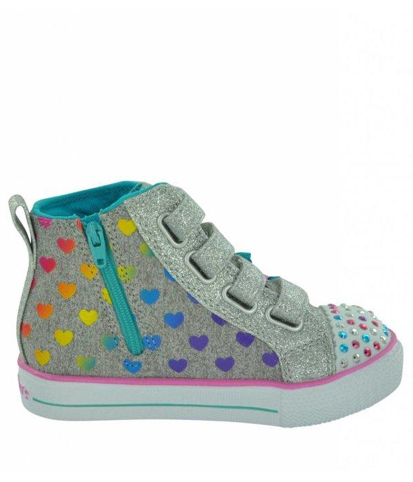 Skechers Kids Shuffle Lite - Fancy Flutters 10992N Girl's Hi-Tops