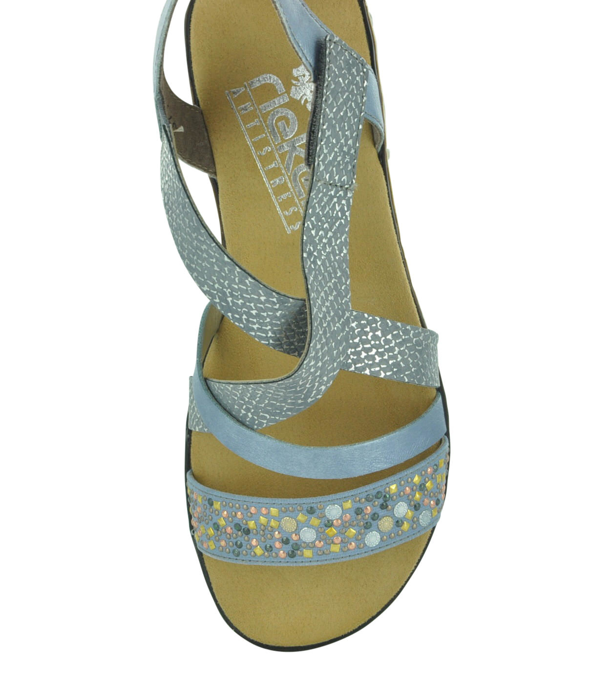 sports shoes 28bb0 a06c4 Rieker V3663 Women's Strappy Sandals