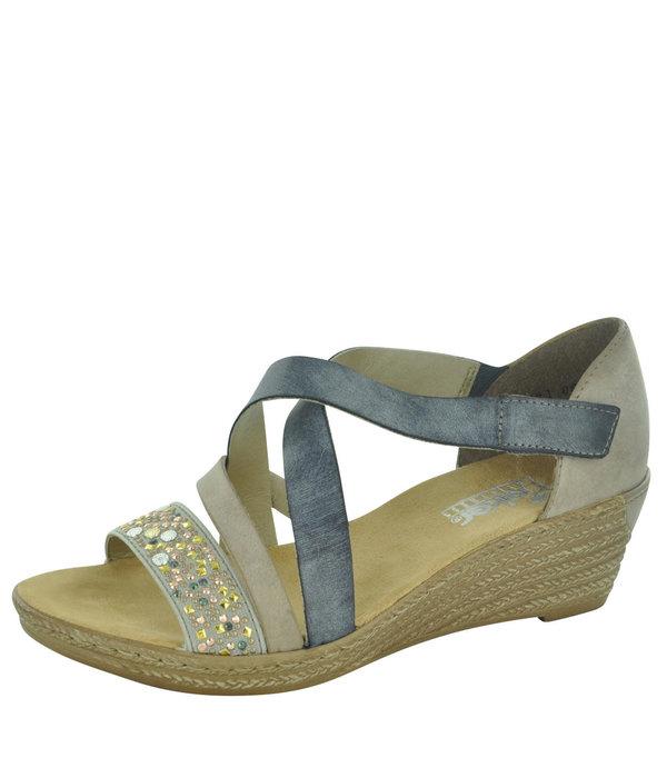 f1a7533f2f048 Rieker Rieker 62405 Women's Wedge Sandals Rieker Rieker 62405 Women's Wedge  Sandals ...