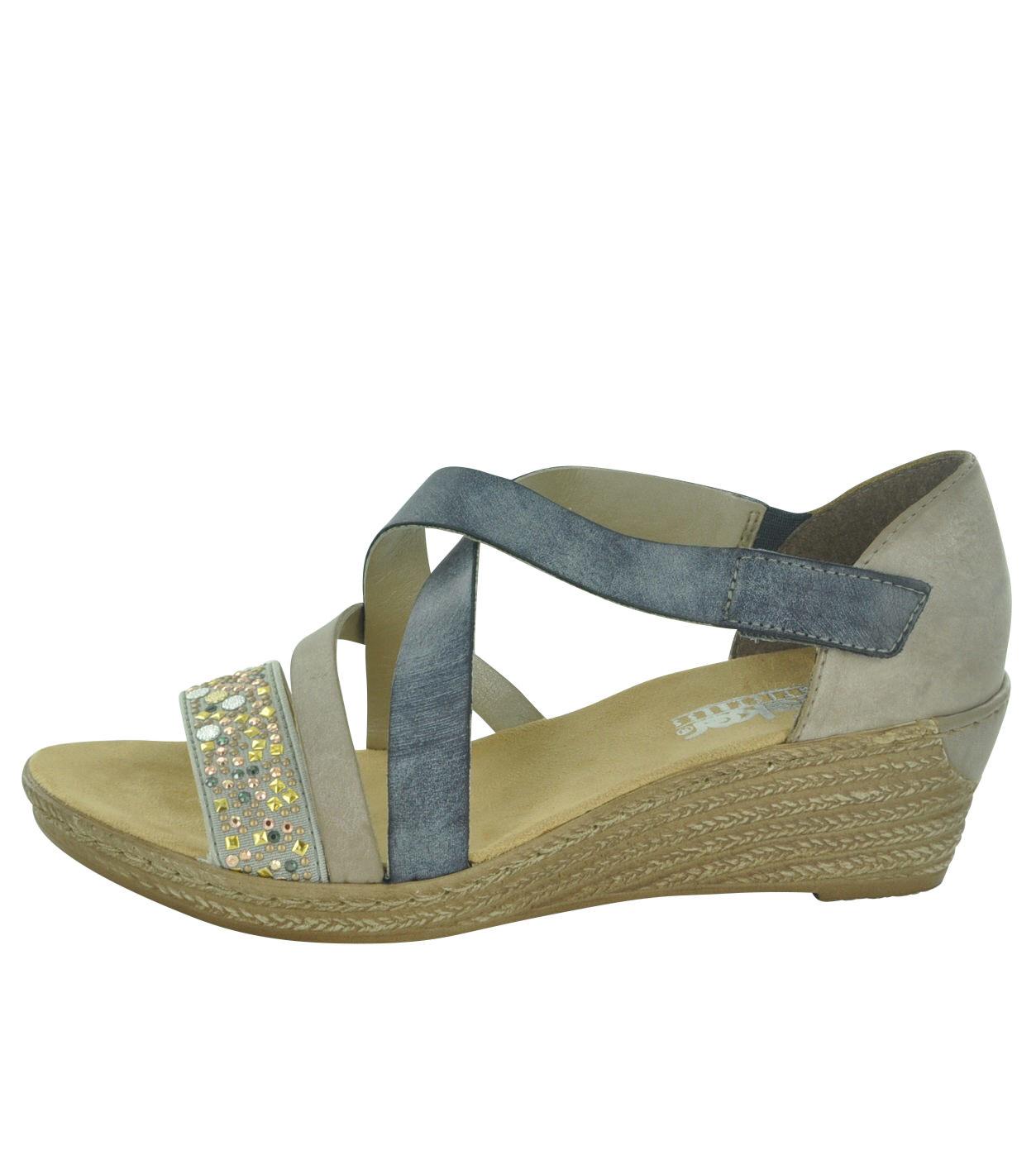 12c51692eade3 Rieker 62405 Women's Wedge Sandals | Rieker Shoes Ireland - Shoe ...