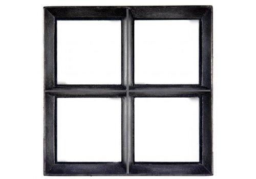 Stalen raam - vierkant vast - dubbel glas