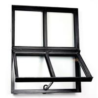 Stalen raam - vierkant openslaand - dubbel glas