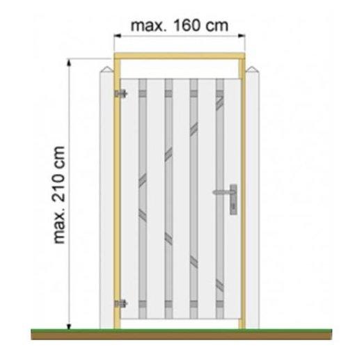 Tuindeurkozijn t.b.v. betonpalen - vuren, of hardhout