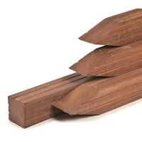 Hardhouten paal 6.5 x 6.5 x 300 cm - geschaafd met V-groef