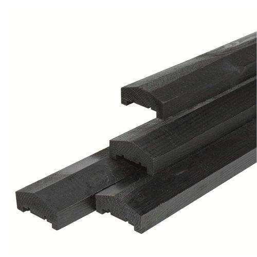 Afdeklat zwart gespoten piramide 4,5 x 8,8 x 180 cm