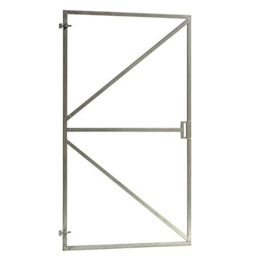 Stalen poortframe met slotkast uitsparing - B100 x H180 cm - incl. 2 verstelbare ogen