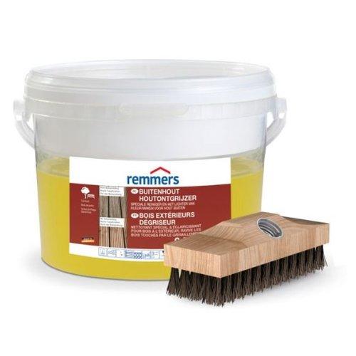 Remmers hout ontgrijzer 2,5 L incl. borstel