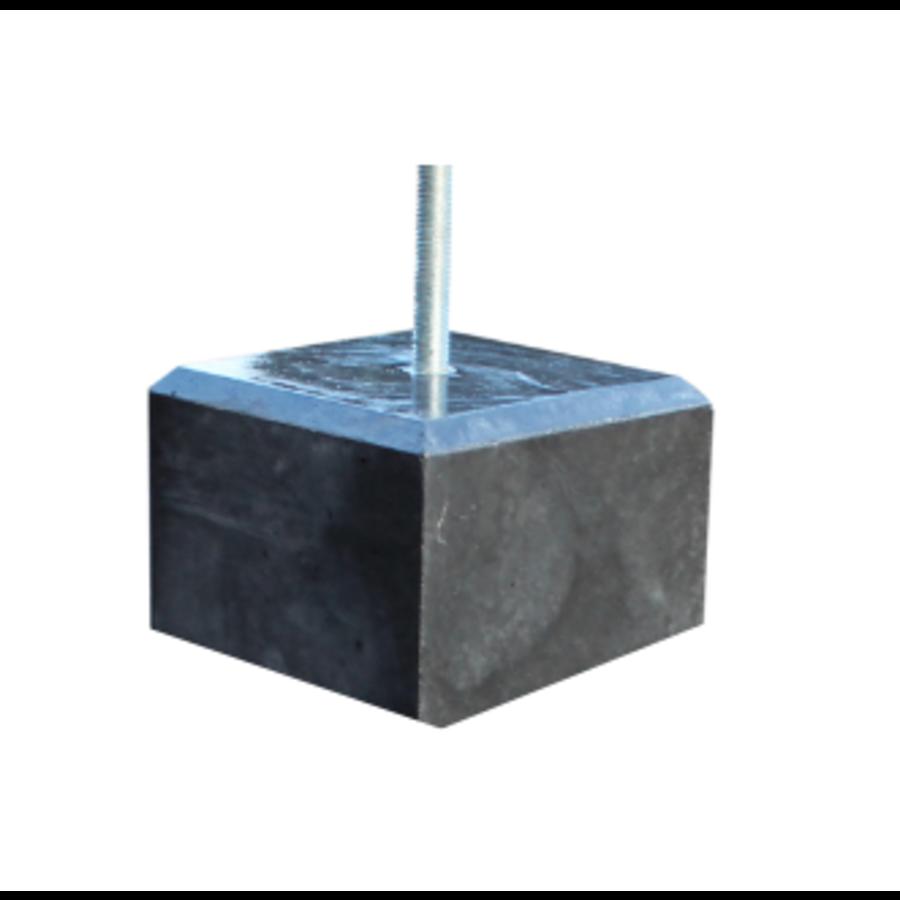 Lage Betonpoer Glad / Velling 17 x 17 x 10 cm (bovenzijde 15 x 15 cm)
