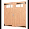 Dubbele opgeklampte  Douglas deur met bovenraam - B190 x H202 cm