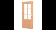 Enkele glasdeur lariks Douglas - B91,00 x H200,6 cm
