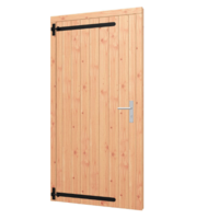 Enkele opgeklampte  Douglas deur - B101,5 x H202 cm