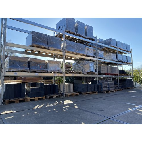 Prefab betonpoer - Antraciet glad met velling - 22 x 22 x 58 cm (t.b.v. paal 20 x 20)