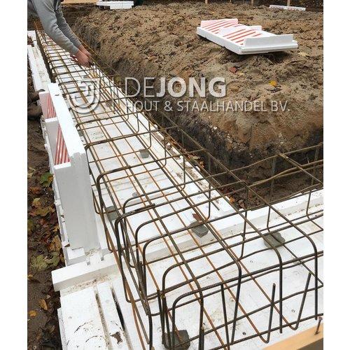 Pakket a 4 stuks Isobouw Powerkist wandplaat 50 cm hoog (4.8 m1)