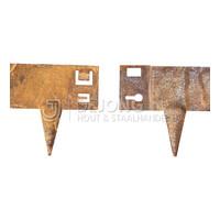 Cortenstaal kantopsluiting - 106 x 24 cm
