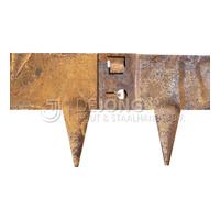 Cortenstaal kantopsluiting - 106 x 40 cm