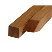 Hardhouten paal 6.5 x 6.5 x 300 cm - Glad geschaafd