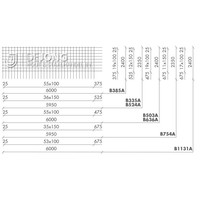 Bouwstaalmat B524a Ø10-150 2.35 x 5.95 meter - met stekeinden