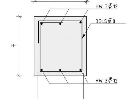 Wapeningskorven t.b.v. Balkmaat B30 x H40 cm