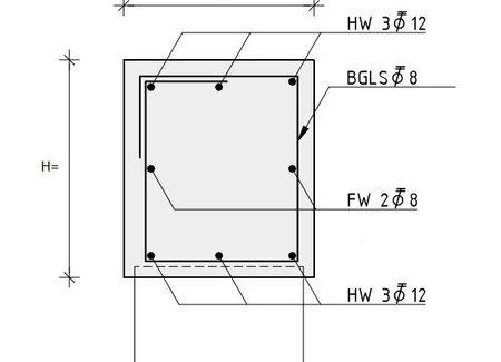 Wapeningskorven t.b.v. balkmaat B35 x H50 cm