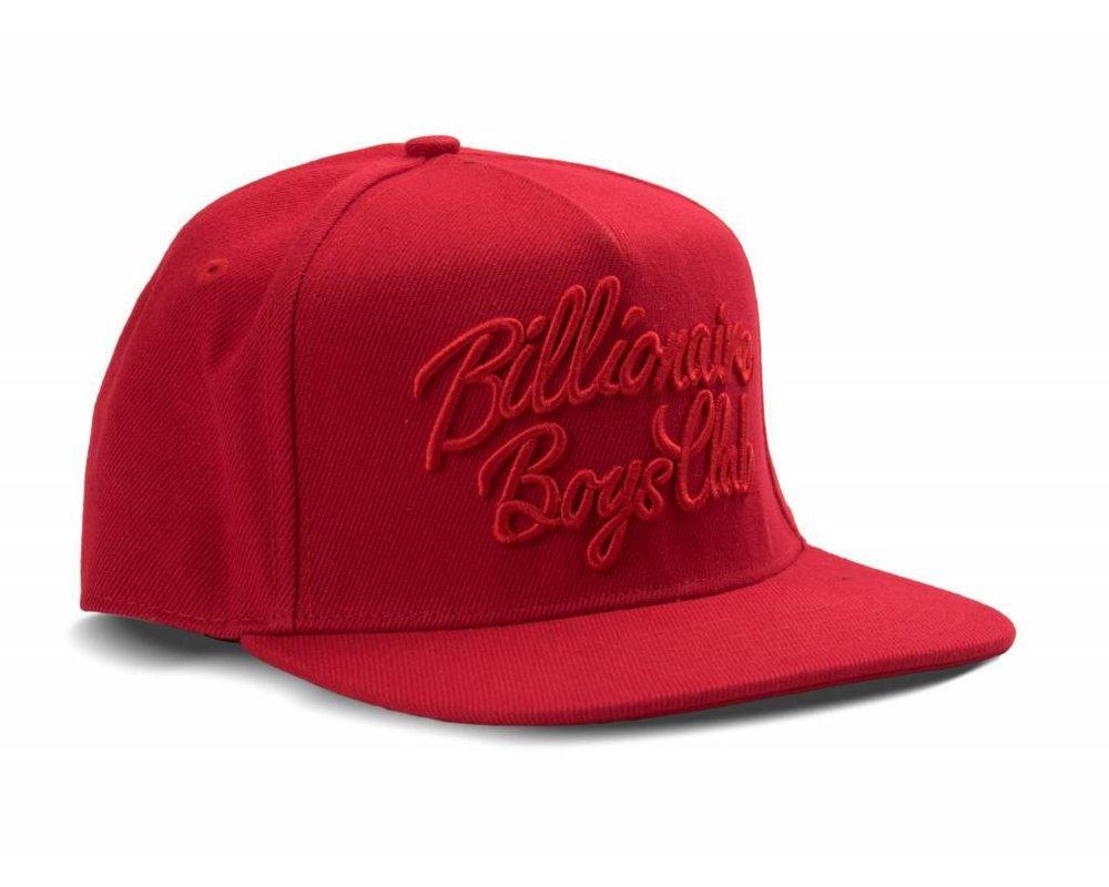 Billionaire Boys Club Script Logo Snapback Red B17263