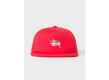 Stussy Puff Print Stock Trucker Cap Red 131703 0601
