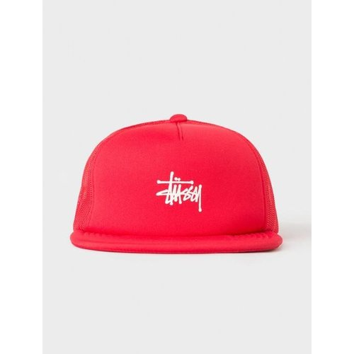 Puff Print Stock Trucker Cap Red 131703 0601