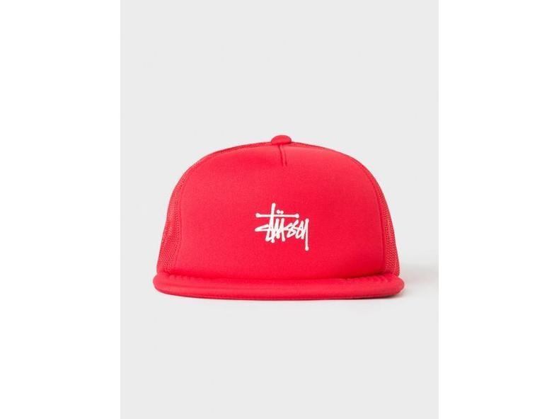 Puff Print Stock Trucker Cap Red 131703 0601
