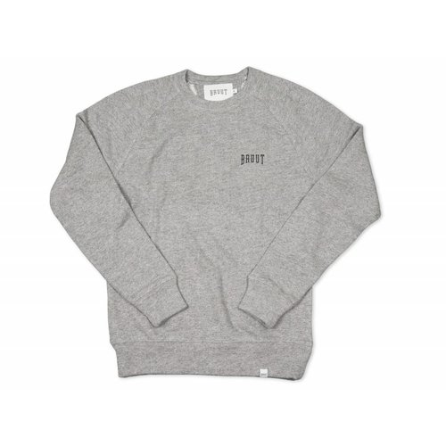 Crewneck Grey Black 1009