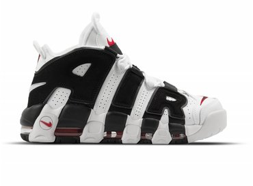 the best attitude 26d49 3aa98 Nike Air More Uptempo White Black University Red 414962 105