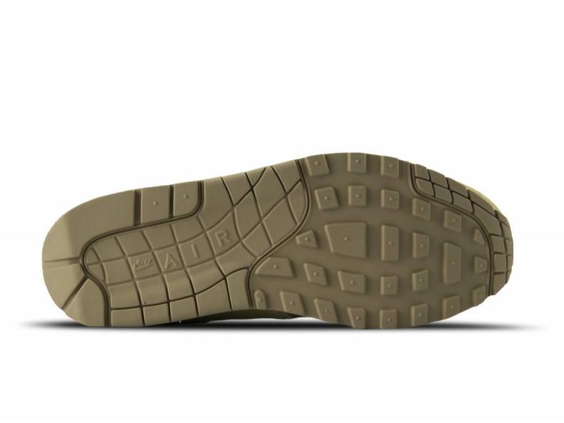 35493f18ce2 Nike Air Max 1 Premium LTR Khaki Team Gold Mushroom AH9902 201 ...
