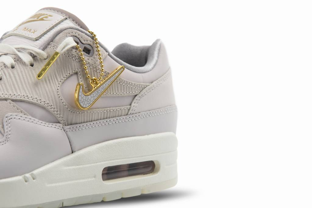 nett Nike Wmns Air Max 1 PRM in Vast Grey Vast Grey Rabatt
