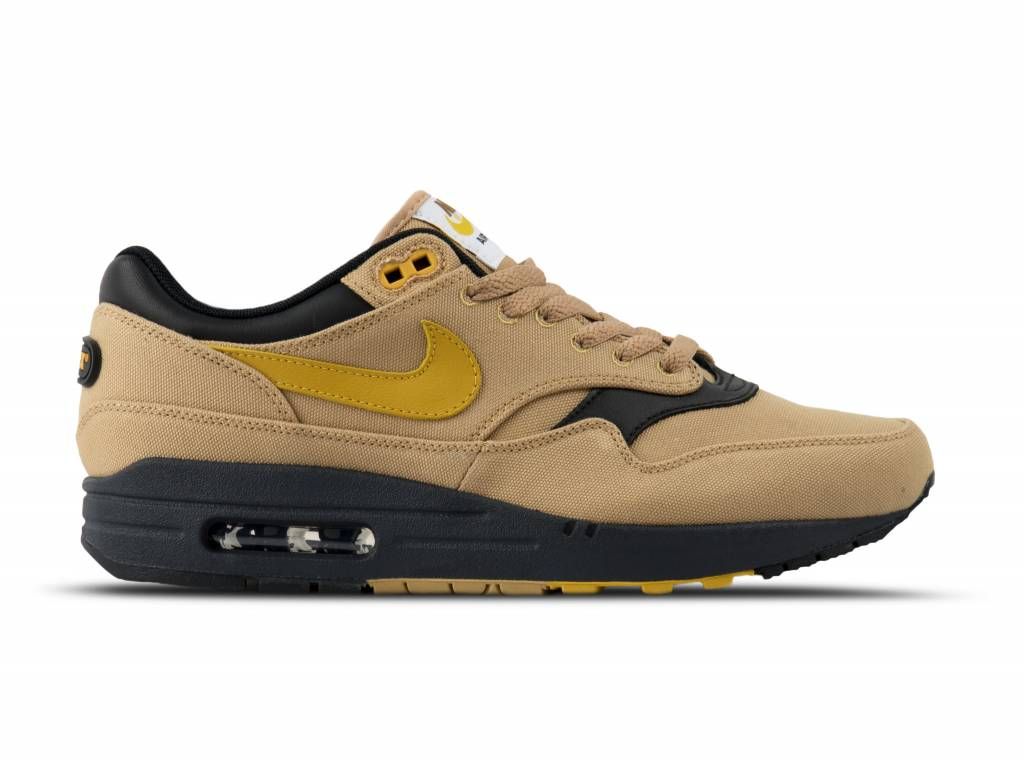 Nike Air Max 1 Premium Elemental Gold Mineral Yellow Black 875844 ...