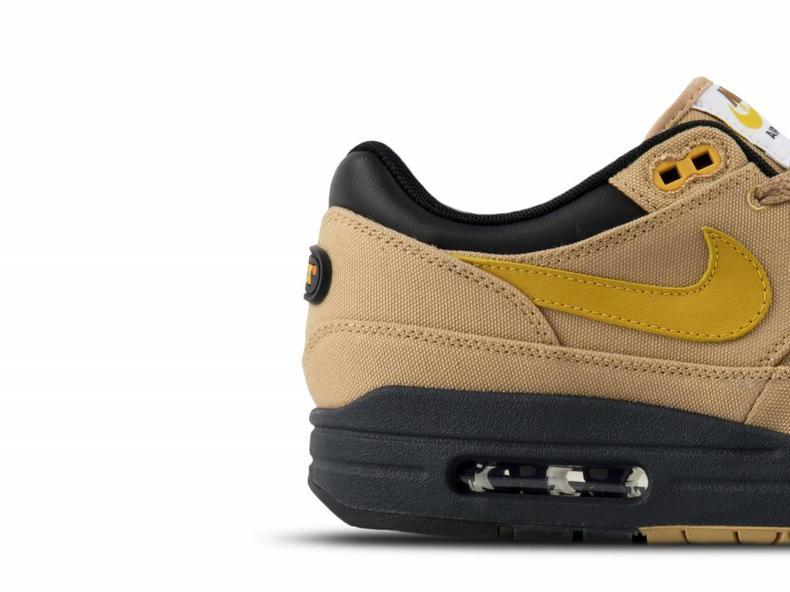 7eabc4c8a6 Nike Air Max 1 Premium Elemental Gold Mineral Yellow Black 875844 ...