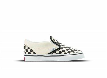 Vans Classic Slip On TD Black White Checkerboard White VN000EX8BWW