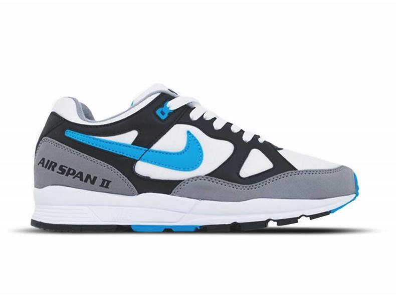 c8d0d98b2ff6 Nike Air Span II Black Laser Blue Dust White AH8047 001