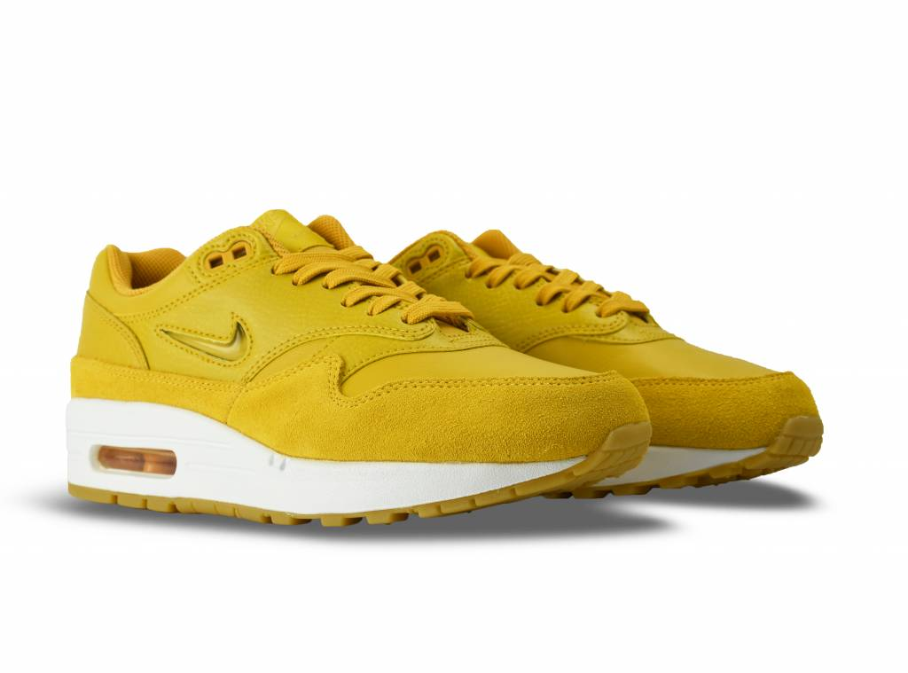 Nike Air Max 1 Premium SC Yellow White Womens AA0512 700
