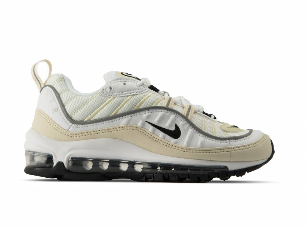 Wmns Air Max 98 White Black Fossil AH6799 102 will be added to your  shopping card f6b94911f