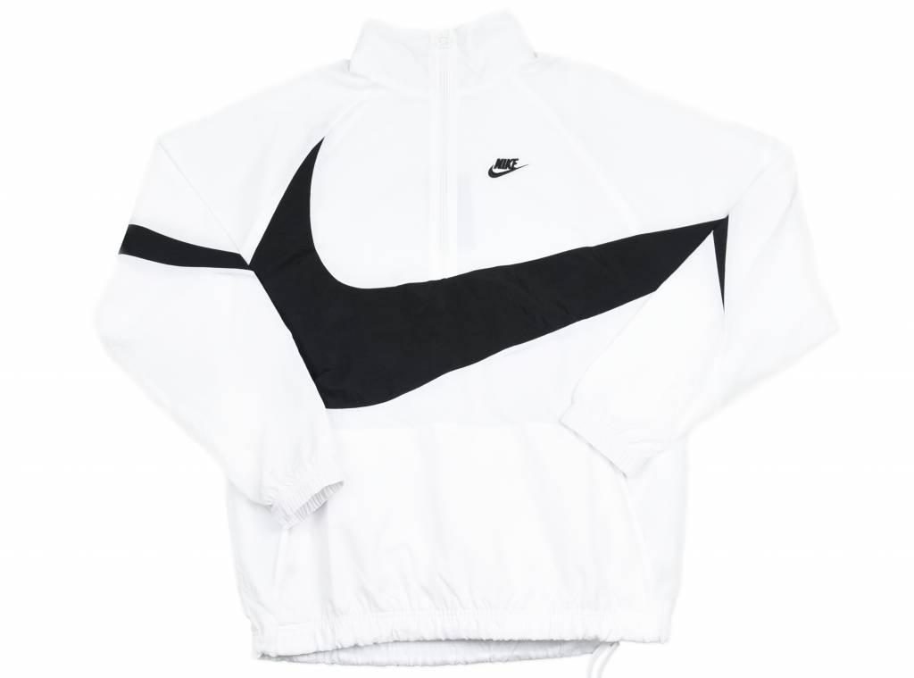 Swoosh Half Zip Jacket White Black AJ2696 100