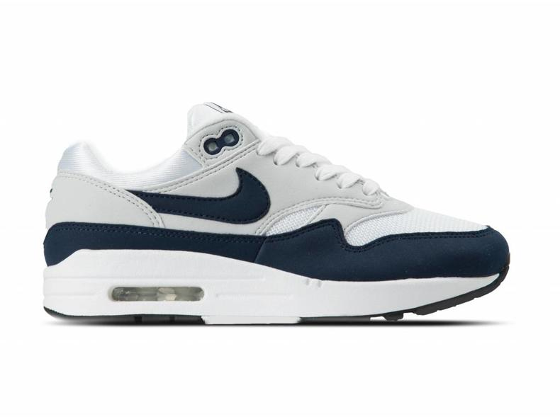 check out 7b5b3 0eafa WMNS Air Max 1 White Obsidian Pure Platinum 319986 104