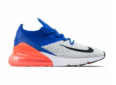 Nike Aix Max 270 Flyknit White Black Racer Blue AO1023 101