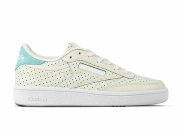 Reebok Club C 85 Popped Perf Chalk Turquoise White CM9277 0a3c657aa